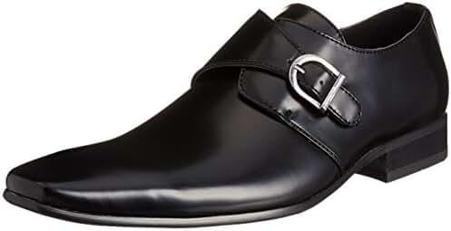 MM/ONE Monkstrap oxford Men's Shoes Plain toe Low Cut Shoes Black Brown Dark Brown