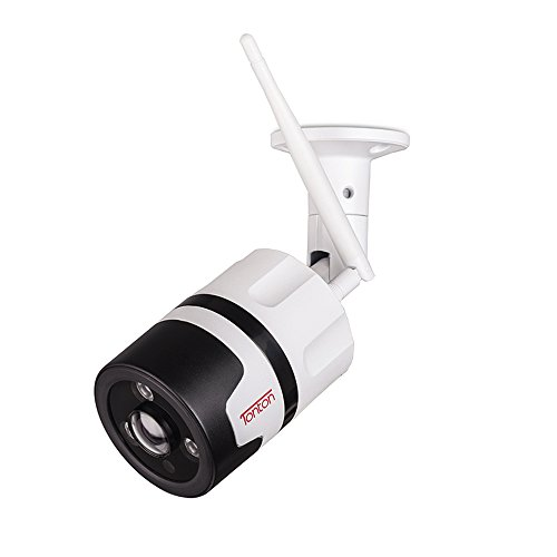 Tonton 1080P Full HD WiFi Outdoor IP Security Bullet Camera, Two-Way Audio and Wide Viewing Angle, Weatherproof and Motion Detection with Night Vision