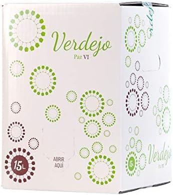➡️ BAG IN BOX VINO BLANCO VERDEJO 15 LITROS: Bag in box vino blanco Verdejo con grifo para poder ser