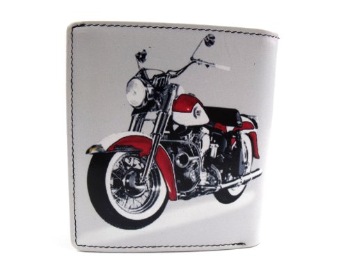 BY 543 RETRO DESIGNER HARLEY 7 BIKE WALLET LEATHER CLASSIC EHUqvRw