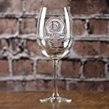 Personalized Monogrammed Engraved Wine Glasses SET OF 2 (m8)
