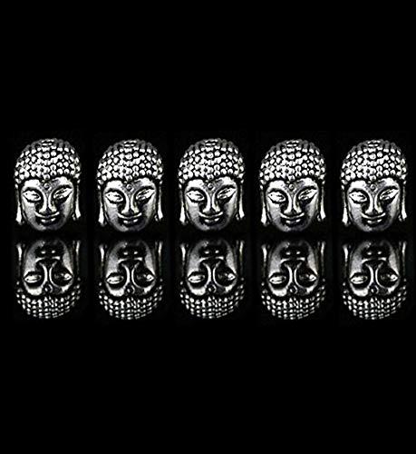 30pcs Antique Silver Tone Alloy Buddha Head Bead Tathagata Decor Jewelry Findings