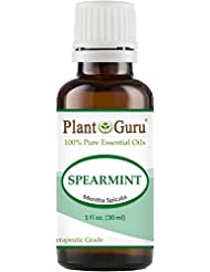 Spearmint Essential Oil 30 ml. (1 oz.) 100% Pure Undiluted Therapeutic Grade For Aromatherapy Diffuser, Promotes Digestion, Great For Focus and Concentration