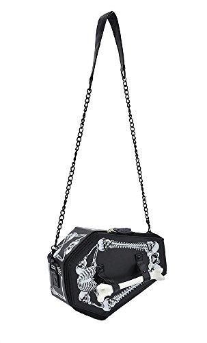 TOKYO-T Gothic Shoulder Bag Purse Coffin Box Halloween Accessories (Black)