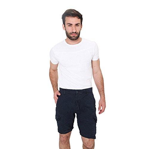Shorts Hombre Bermudas en Algodón Verano Casual Smiling London Azul
