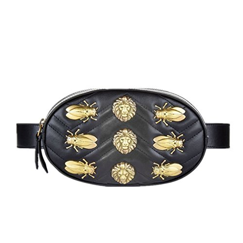 SULAKU Waist Bag Rivets Waist Fanny Pack Bags Luxury Brand Fashion Velvet Leather Chest Belt Handbag