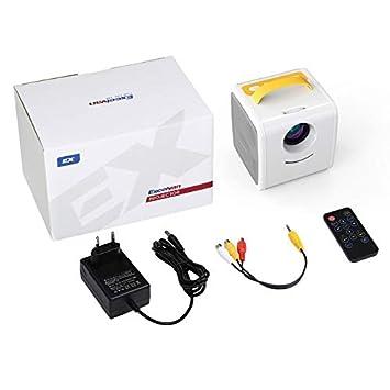 Mini proyector 70 lúmenes proyector portátil TV LED proyector de ...