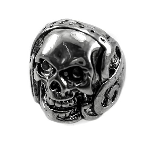[skull ring silver gold eyes size steel stainless sterling rose keith diamond white ruby pewter harley engagement cigar opener amethyst purple punisher pink men women] (Punisher Costumes For Sale)