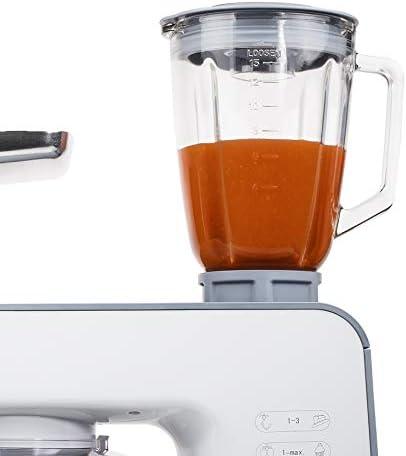 Tristar MX-4185 Robot de Cocina, 1000 W, 1.5 litros, Vidrio, 8 Velocidades, Acero inoxidable, Blanco: Amazon.es: Hogar