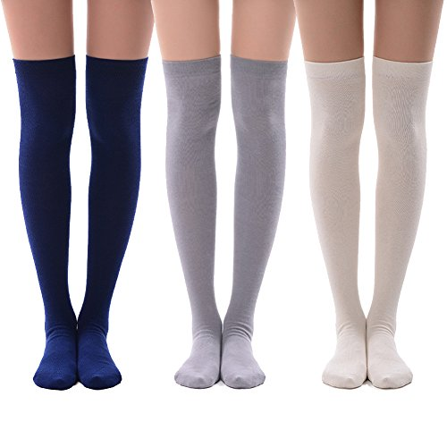 Opaque Thigh High Socks, MEIKAN Cosplay Women's Girls', used for sale  Delivered anywhere in USA
