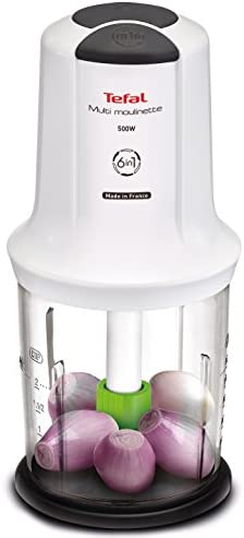 Tefal PPATE7231 6-in-1 Multi Moulenette Chopper, Plastic, White