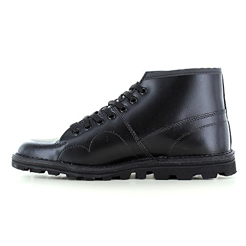 Men's Boys Leather Boots Roamer Nero Original Monkey fqpBnw41x