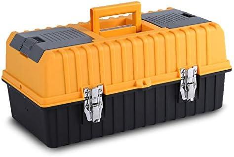 FQ ツールボックス - 多機能家庭用ツールボックス三層折りたたみプラスチックツールボックスメンテナンスカーポータブルハードウェアツール収納ボックス(ツールなし)