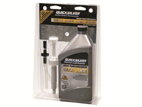 MERCURY QUICKSILVER 32oz HIGH PERFORMANCE GEAR LUBE & PUMP KIT: FITS MOST OUTBOARDS STERNDRIVES OUTDRIVES LOWER UNITS