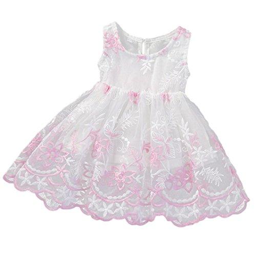 Binmer(TM) Summer Dress Sleeveless Printed Big Size Princess Dress Teenagers Kids Clothes (10-12M, (White Dress For Teenager)
