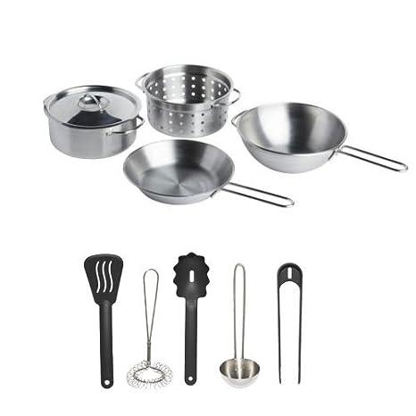 Amazon.com: IKEA Stainless Steel 10-Piece Children\'s Pretend ...