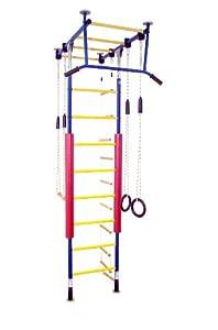 Kletterdschungel Sprossenwand Indoor Klettergerüst (Blau/Gelb, für Raumhöhen...
