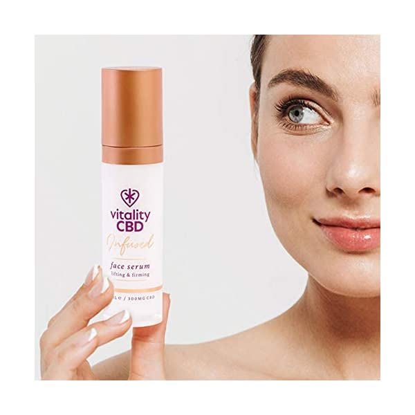 Vitality CBD Infused Face Serum, 300mg cannabidiol, 30ml