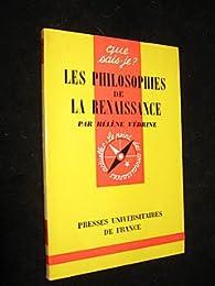 Les Philosophies de la Renaissance par Hélène Védrine