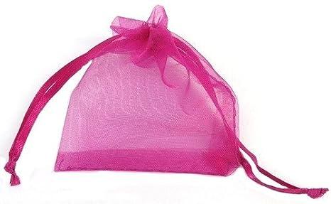 50 piezas 13 x 18 cm rosa bestdeal bolsitas de Organza bolsa ...