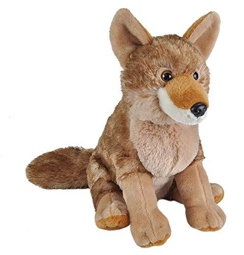 Photo Coyote - Wild Republic Coyote Plush, Stuffed Animal, Plush Toy, Gifts for Kids, Cuddlekins 12 Inches
