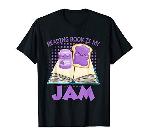 Book Gifts For Men Women Kids Girl Shirt Reading Is My Jam