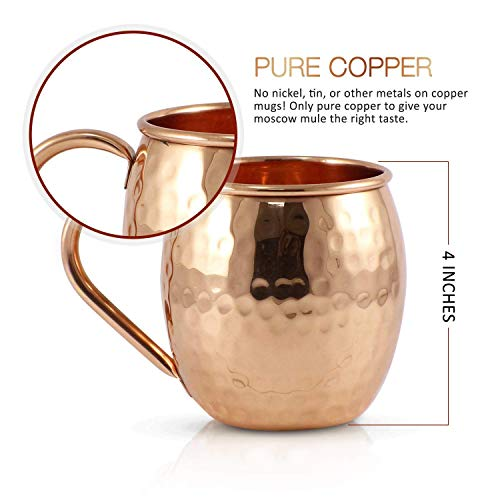 Pure Copper Moscow Mule Mugs (Set of 8) by Mule Science with BONUS: Highest Quality Cocktail Copper 8 Straws, 2 Shot glasses and 8 coasters! by Advanced Mixology (Image #4)