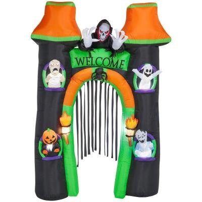 Gemmy Inflatable Lighted Halloween Archway 10 Foot (Halloween Blow Up)