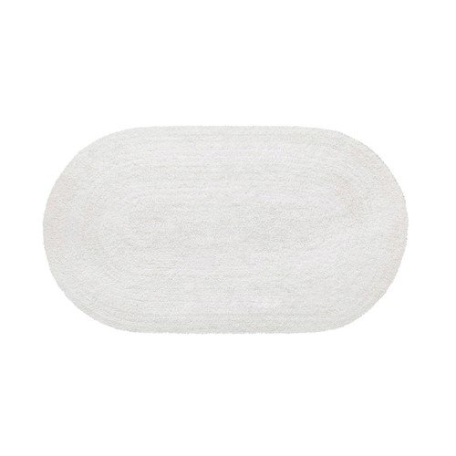 Tapete Double Oval Branco 70X120cm Aroeira Home