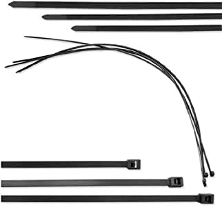 Neiko 15-Inch UV Protected Cable Ties - Pack of 500, Made in USA