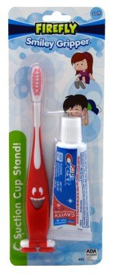 Firefly Toothbrush Smiley Gripper With Toothpaste (2 ()