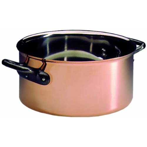 Matfer Bourgeat COPPER CASSEROLE WITHOUT LID, 367028, 11-inch