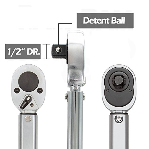 EvZ Tools 1/2-Inch Drive Click Torque Wrench Professional(10-150 ft.-lb./13.6-203.5 Nm), Set of 3 by EvZ (Image #1)