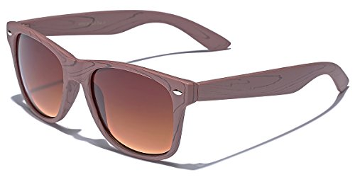 Rose Wood Print Frame Sunglasses Brown   Gradient Amber