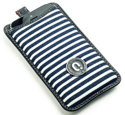 QIOTTI Q.SMART LEATHER CASE WITHE BLUE IPHONE 5 - Tasch