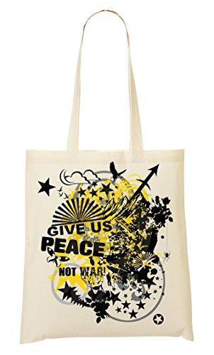 ShutUp Give Us Peace Not War Bolso De Mano Bolsa De La Compra