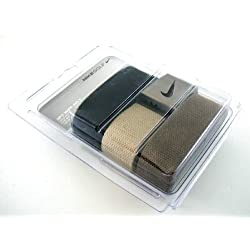 Nike One Size Fits All Web Belts : Black, Olive & Khaki 3 Pack