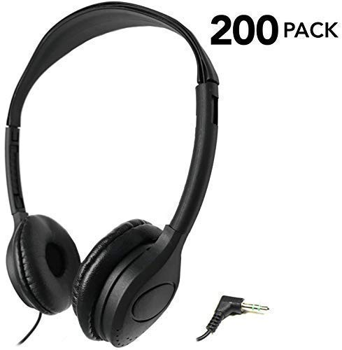 SmithOutlet 200 Pack Over The Head Low Cost Headphones in Bulk (Best Low Price Headphones)