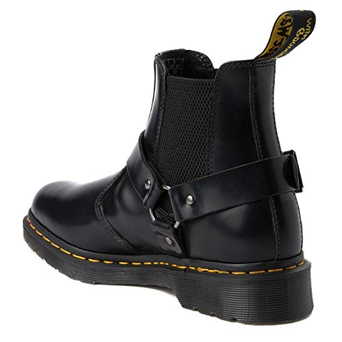 Unisex Polished Martens 001 Adults' Smooth Chelsea Wincox Black Dr Boots Black g5Sw668q