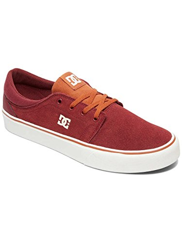 Uomo Rouge Sneaker Shoes Burgundy Tan DC SD Trase qPxwF