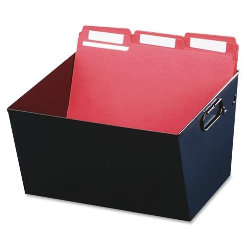 Wholesale CASE of 5 - MMF Industries Posting Tubs-Posting Tub, Letter File, 12-1/8''x11-3/8''x7'', Black