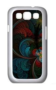 Abstract Feather Custom Samsung Galaxy S3 / SIII/ I9300 - White