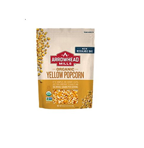 Arrowhead Mills Organic Yellow Popcorn - 28 oz (Best Organic Popping Corn)