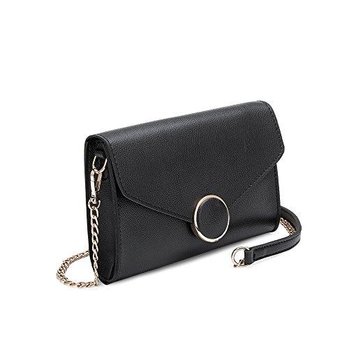 Luxury Women Flap Vegan Black Leather Crossbody Front Shoulder Bags Strap Melie Stylish Design For Bianco qnP1g1