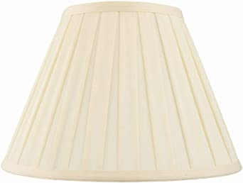 Tapered Deep Empire Chandelier Shades, Off White Linen, Gold Lining