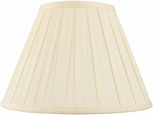 Amy Decorative Tapered Empire Drum Table Lampshade E27B22 Light Shade in Cream Fabric 18 Inch