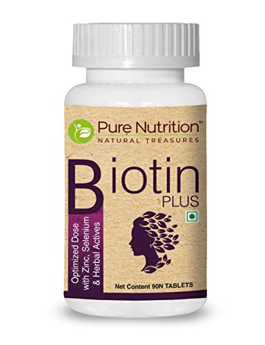 Pure Nutrition Biotin Plus with Moringa Extracts, Iron & Biotin Plus Blend, Strength and growth For Hair, Skin & Nails…