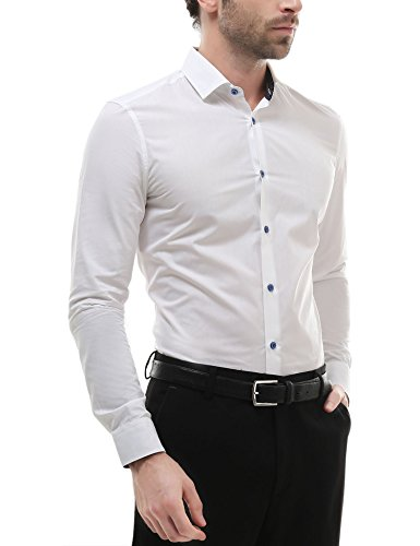 Mens Long Sleeve Button Down Casual Dress Shirt Classic