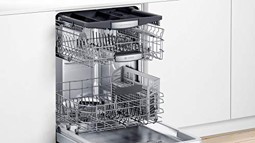 Bosch SHXM78Z55N 24″ 800 Series Fully Integrated Dishwasher with 16 Place Settings, Flexible 3rd Rack, InfoLight and CrystalDry (Stainless Steel)