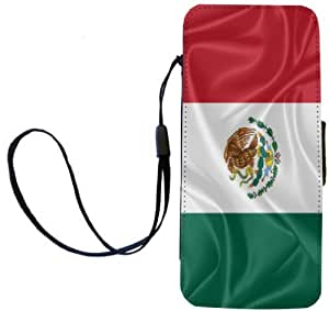 Rikki Knight Mexico Flag Flip Wallet iPhoneCase with Magnetic Flap for iPhone 5/5s - Mexico Flag
